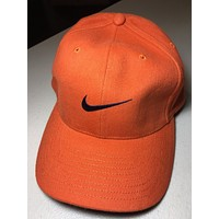 BRAND NEW RETRO NIKE BURNT ORANGE CURVED BRIM HAT SHIPPING
