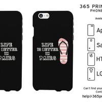 Flip Flop Life is Better in Pairs Couple Phone Cases - 365 Printing Inc