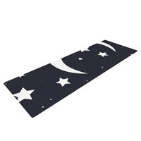 "KESS Original ""Moon & Stars"" Black White Yoga Mat"