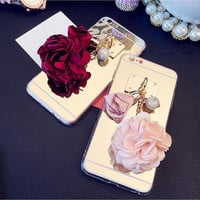 Handmade Mirror Girls Flora Phone Cases for iphone 6 6s for iphone 6 6s  plus
