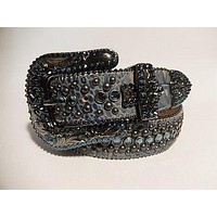 "B.B. Simon ""Ocean Blue"" Crystal Belt"