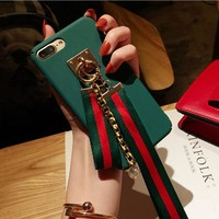 Fashion with rope neck iPhone Phone Cover Case For iphone 6 6s 6plus 6s-plus 7 7plus hard shell