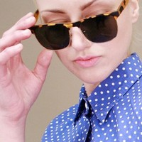 classic horn-rimmed glasses in tortoise shell with gold metal frames | shopcuffs.com