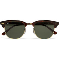 Ray-BanClubmaster Acetate and Metal Sunglasses|MR PORTER