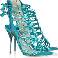 Sophia Webster Lacey metallic leather sandals – 58% at THE OUTNET.COM
