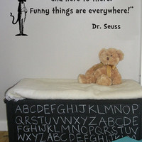 Dr Seuss Cat In The Hat From There to Here wall quote vinyl wall art decal sticker 15x32