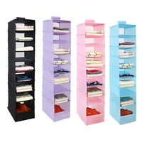9 Cell Hanging Organizers Oxford Clothes Storage Door Wall Closet Organizadores Bag Container