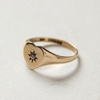 Vintage Starburst Heart Ring by shopFiligree Gold One Size Jewelry