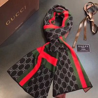 GUCCI  Men Smooth Cashmere Warm Winter Cape Scarf Scarves