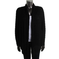 Style & Co. Womens Plus Pointelle Knit Cardigan Sweater