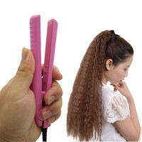 Corrugated Curling Hair Chapinha Hair Straightener Crimper Mini Hair Curlers Curling Irons Styling Tool