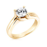 2.51 carat GORGEOUS F VS1 diamond engagement ring Yellow Gold jewelry