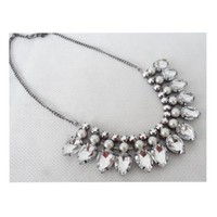 Fashionable Necklace Glass Claw Zircon   Luxurious Woman Clavicle Necklace   whi