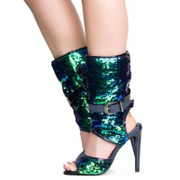 Cape Robbin Suzzy-75 Women's Mermaid High Heels