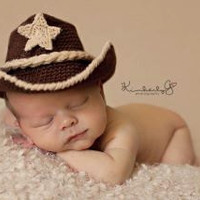 Baby Cowboy Hat and Boots Chocolate Brown And by conniemariepfost