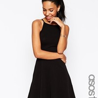 ASOS TALL 90s Skater Dress With High Neck