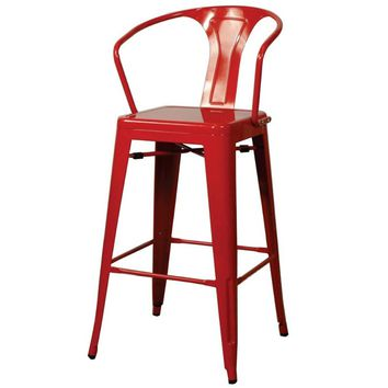 Oxford Metal Bar Chair- Set of 4 RED