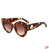 FENDI Trending Women Men Stylish Sun Shades Eyeglasses Glasses Sunglasses 2# Leopard Grain I13883-1