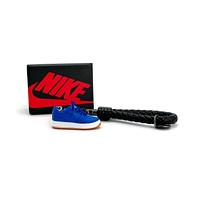 3D Sneaker Keychain- Air Force 1 Low Blue Silk
