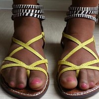 Multi Animal Print Sandals from 808fashion