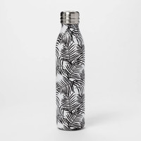 20oz Venti Air Transfer Stainless Steel Portable Water Bottle Black/White Palm Leaves - Room Essentials™