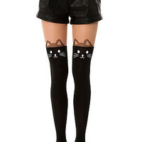 Here Kitty Kitty Tights in Black