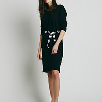Free People x CP SHADES Womens Knit Midi Dress