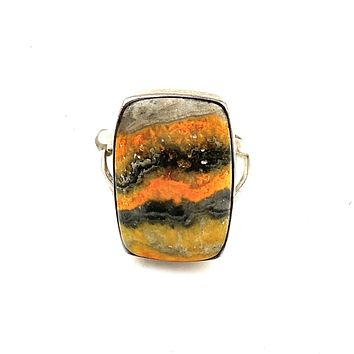 Bumble Bee Jasper Sterling Silver Ring