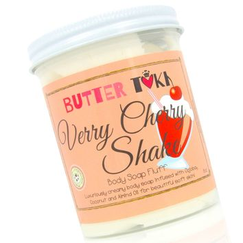VERRY CHERRY SHAKE Whipped Body Soap Fluff - Clearance