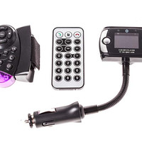 """1.5"""" LCD Bluetooth V3.0 MP3 Player FM Transmitter w/ Dual Remote Controllers"""