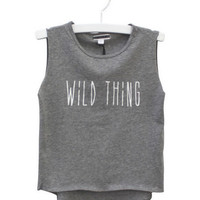 Wild Thing KIDS Muscle Tee – Grey