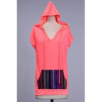 A New Day Hoodie - Neon Coral