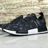 Best Online Louis Vuitton LV x Adidas NMD R1 Black BA7263 Sport Running Shoes Classic Casual Shoes Sneakers