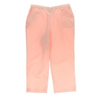 Alfred Dunner Womens Petites Solid Stretch Casual Pants