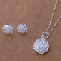 AS188 Hot 925 sterling  silver Jewelry Sets Earring 141 + Necklace 301 /bkaakbha aiaaizha