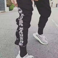 Chrome Hearts Women Men Casual Personality Letter Print Leisure Pants Trousers I-JJ-LHYCWM Tagre™
