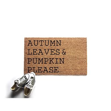 Autumn Leaves and Pumpkin Leaves Doormat