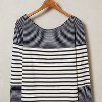 Stripe Merge Pullover by MiH Navy