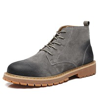 Men's Vintage Style Winter Leather Boots