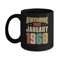 Vintage Retro Awesome Since January 1968 52th Birthday