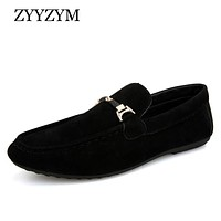 Men Loafers Moccasins Men Casual Shoes Slip On Light Flock Youth Men Shoes Breathable Flat Footwear