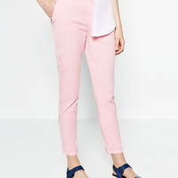 CHINOS WITH BELT - View all-WOMAN-NEW IN | ZARA United Kingdom