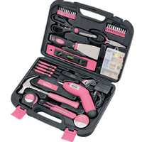 135 Piece Household Tool Kit - Pink