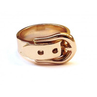 GOLD BELT MIDI RING