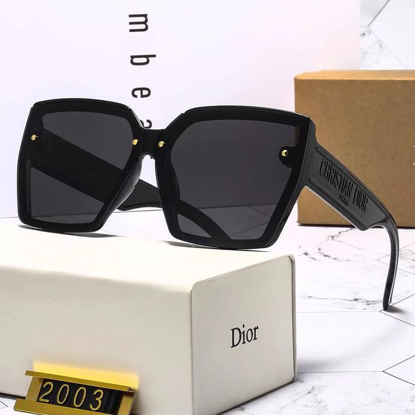 Image of Christian Dior new men's and women's gradient letter engraving sunglasses glasses