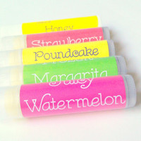 Lip Balm Gift Set 5 Pack Any Flavor, Lip Butter, Anniversary Gifts, Gift Ideas, Lip Balm Graduation Gifts