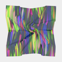 Colorful digital art splashing G256 Square Scarf Square Scarf