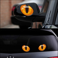 9*7CM Car-Styling 3D Simulation After Occlusion Rearview Mirror Scratch Car Sticker Accessories