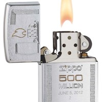 Zippo 500 Millionth Brushed Chrome Lighter