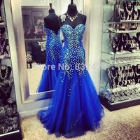 2014 Real Long Prom Dresses Vestidos De Fiesta New Arrival Long Beaded Sweetheart 2015 Prom Dress Party Fast Shipping_bridalk-in Prom Dresses from Apparel & Accessories on Aliexpress.com | Alibaba Group